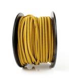 желтый цвет провода катышкы Стоковые Фото
