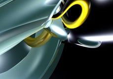 желтый цвет провода Стоковые Фото