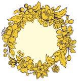желтый цвет рамки круглый Стоковые Изображения
