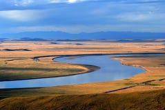 желтый цвет реки загиба Стоковая Фотография RF