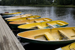 желтый цвет реки шлюпок Стоковое фото RF