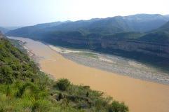 желтый цвет реки Стоковые Изображения RF