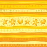желтый цвет рождества предпосылки безшовный Стоковые Фотографии RF