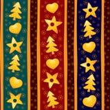 желтый цвет рождества предпосылки безшовный Стоковое Изображение