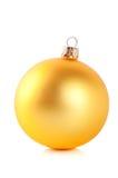 желтый цвет рождества шарика Стоковые Изображения