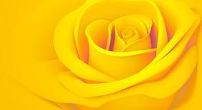 желтый цвет розы померанца 3d Стоковая Фотография RF
