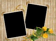 желтый цвет розы праздника карточки Стоковое Изображение