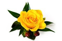 желтый цвет розы boutonniere осени акцентов Стоковая Фотография RF