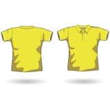 желтый цвет рубашки поло Стоковые Изображения RF