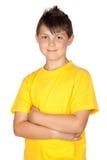 желтый цвет рубашки t ребенка смешной Стоковое Изображение RF