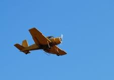 желтый цвет самолета Стоковая Фотография RF