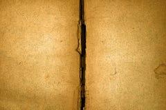 желтый цвет сбора винограда старых страниц книги ретро Стоковые Изображения
