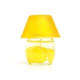 желтый цвет свечки Стоковые Изображения RF