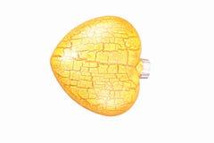 желтый цвет сердца Стоковое Изображение
