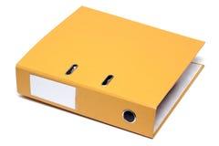 желтый цвет скоросшивателя Стоковые Изображения
