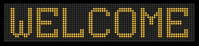 желтый цвет слова гостеприимсва кнопки доски Стоковое Изображение