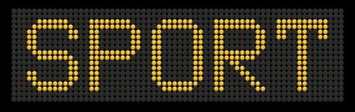 желтый цвет слова спорта кнопки доски бесплатная иллюстрация
