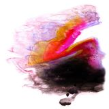 Желтый цвет современного искусства, чернота, задняя часть розового художника avant-предохранителя безшовная Стоковая Фотография RF