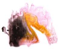 Желтый цвет современного искусства, чернота, задняя часть розового художника avant-предохранителя безшовная Стоковое Фото