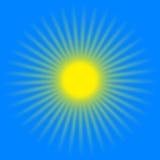 желтый цвет солнца лучей Стоковое Фото