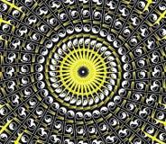 желтый цвет солнца мандала Стоковое Изображение RF