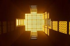 желтый цвет стеклянного окна Стоковое Изображение RF