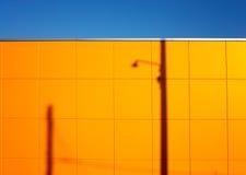 желтый цвет стены Стоковая Фотография