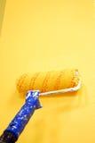 желтый цвет стены Стоковые Фото