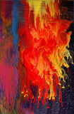 желтый цвет суматохи голубого красного цвета Стоковое Изображение