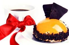 желтый цвет суфла десерта симпатичный Стоковое Изображение
