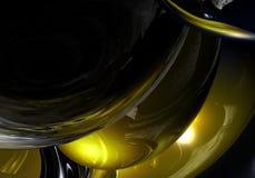 желтый цвет сфер chrom Стоковое фото RF