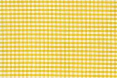 желтый цвет текстуры скатерти белый Стоковые Изображения