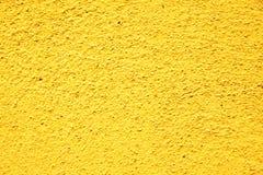 желтый цвет текстуры штукатурки Стоковые Изображения RF