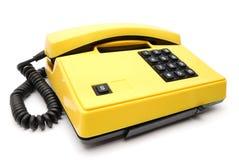 желтый цвет телефона Стоковая Фотография