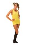 желтый цвет тельняшки Стоковое Изображение