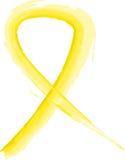 желтый цвет тесемки Стоковые Изображения