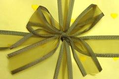 желтый цвет тесемки Стоковые Изображения RF