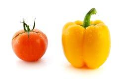 желтый цвет томата свежего перца красный Стоковая Фотография