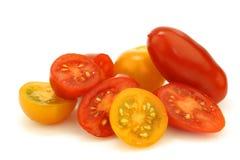 желтый цвет томатов вишни итальянский красный Стоковое Изображение