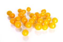 желтый цвет томатов вишни Стоковое Фото