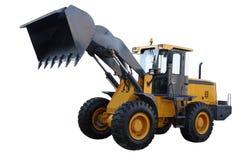 желтый цвет трактора стоковые изображения