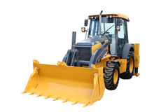 желтый цвет трактора стоковая фотография
