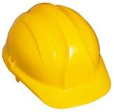 желтый цвет трудного шлема Стоковое Изображение
