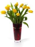 желтый цвет тюльпанов букета стоковые изображения rf