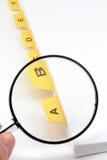 желтый цвет увеличителя архива рассекателя Стоковое фото RF