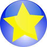желтый цвет фаворита bookmark Стоковые Фотографии RF
