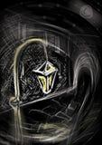 желтый цвет фонарика Стоковая Фотография RF