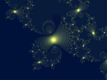 желтый цвет фрактали взрыва Стоковое Изображение RF