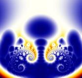 желтый цвет фрактали предпосылки голубой Стоковые Фото