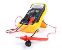 желтый цвет цифрового вольтамперомметра Стоковое Изображение RF